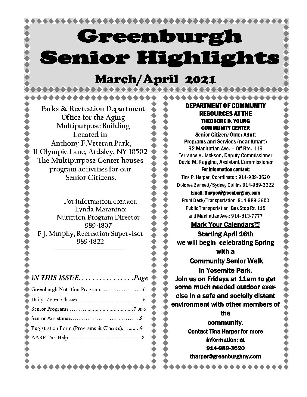 march - april  2021 Highlights_Page1